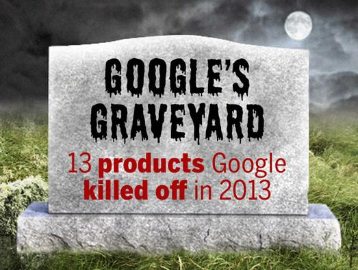 In Pictures: Google's Graveyard - 13 products Google killed off in 2013
