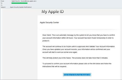 Apple is a tempting phishing target for scammers