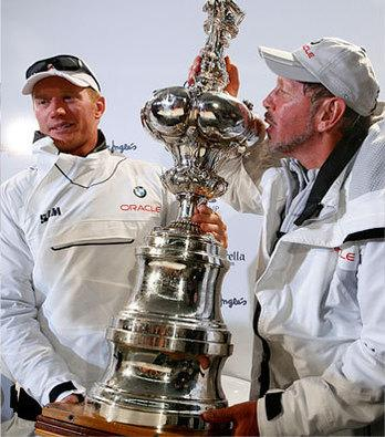 In Pictures: America's Cup 2013 - Just another day out of the office for Oracle's Larry Ellison