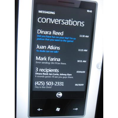 In pictures: Windows Phone Series 7 demo