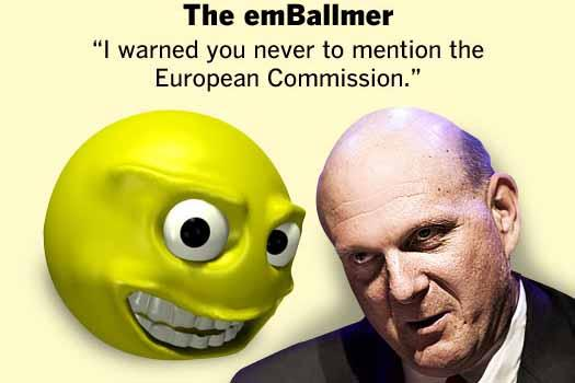 Microsoft's Steve Ballmer as emoticons