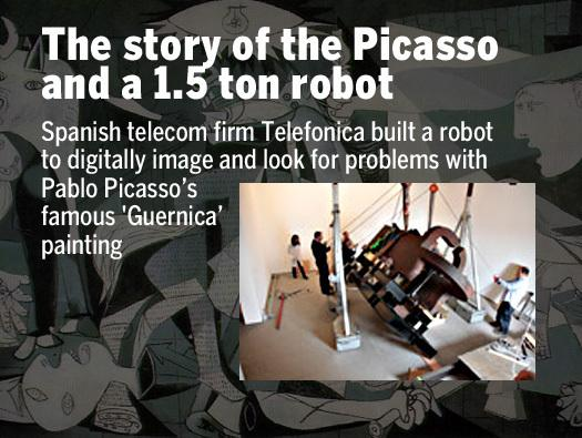 In Pictures: The story of the Picasso and a 1.5 ton robot