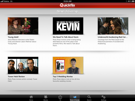 In pictures: Quickflix Watchnow app for iPhone and iPad