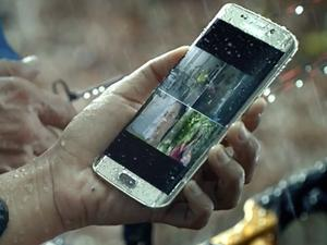 Galaxy S7 Edge's water-resistant feature. Credit: Samsung
