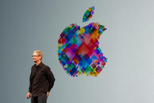 Tim Cook onstage at Apple event