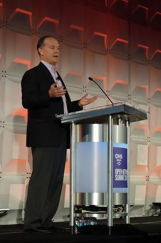 John Donovan, senior executive vice president of technology and network operations at AT&T, spoke on Tuesday at the Open Networking Summit in Santa Clara, California.