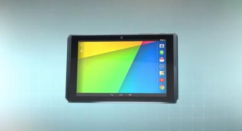 Google's Project Tango tablet for 3-D imaging applications.