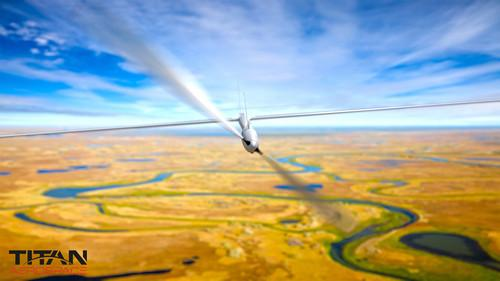 Titan's Solara 50 unmanned, solar powered aircraft.