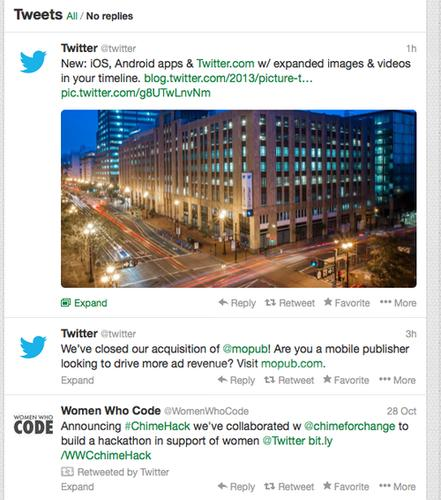 Twitter now puts photo and video previews front and center in users' feeds.