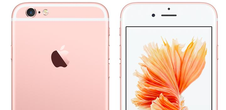 Apple's iPhone 6s coloured in the popular Rose Gold