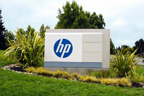 The front sign outside HP's headquarters