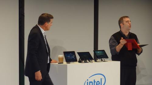Intel's Bay Trail tablets demonstrated on stage at Computex