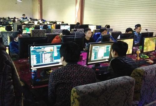 An Internet Cafe in China.