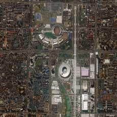 Fencing Hall and National Indoor Stadium. Beijing, China. Collected July 19, 2008.