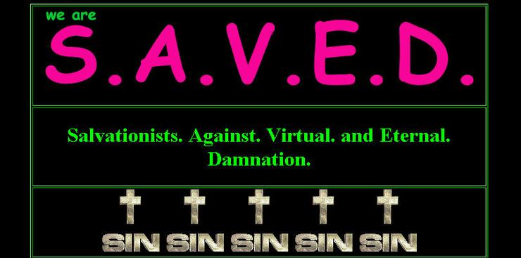 Fake website purporting to belong to Salvationists Against Virtual and Eternal Damnation