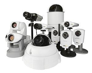A range of Axis network video surveillance cameras