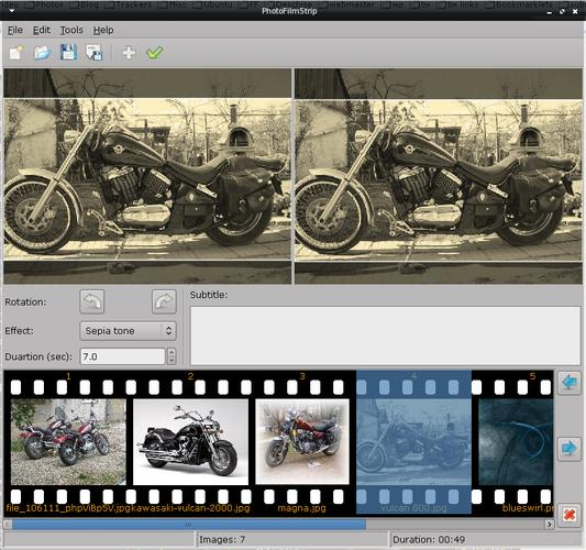 Add motion to digital images with PhotoFilmStrip