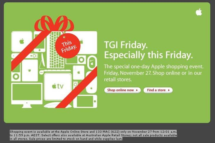Apple's Black Friday sales will hit Australia on Friday November 26