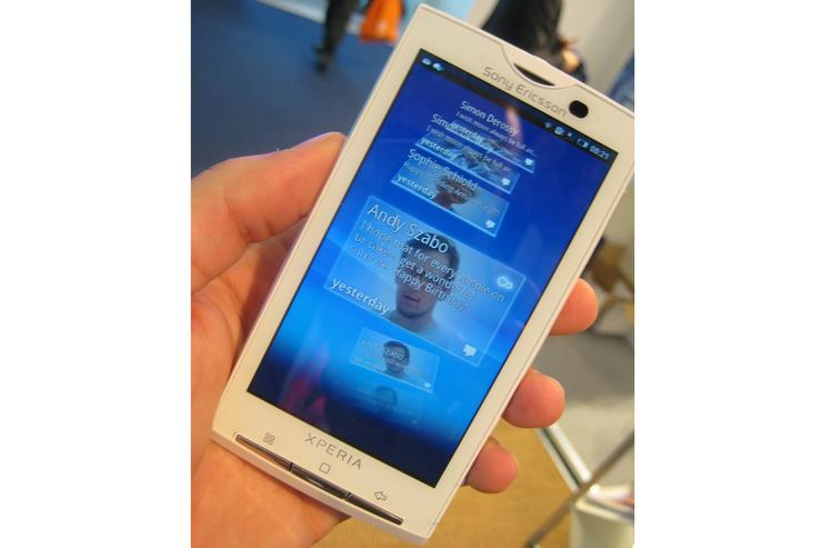 Sony Ericsson's XPERIA X10 impressed us most on the first day of the Mobile World Congress in Barcelona.