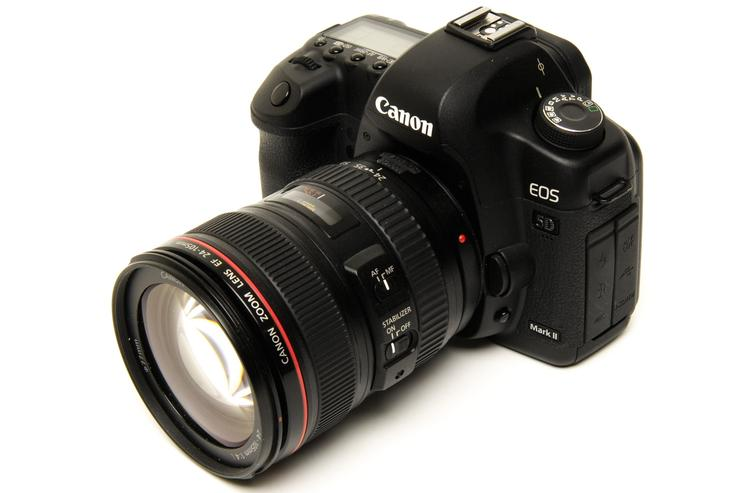 The Canon EOS 5D Mark II digital SLR camera