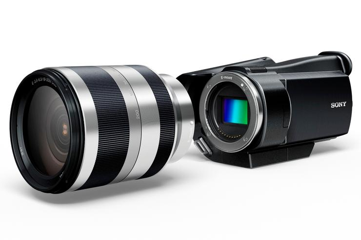 Sony AVCHD camcorder protoype with interchangeable lens