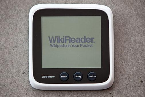 WikiReader. Image credit: http://thewikireader.com/