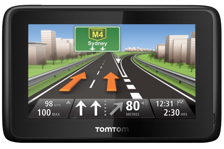 The TomTom GO 1000 features a capacitive touch screen display with multitouch capability.