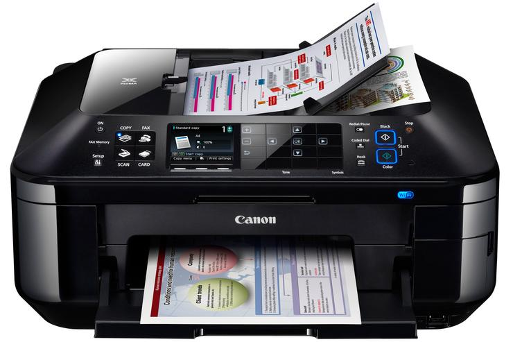 The Canon PIXMA MX885 is the company's top small business inkjet printer.