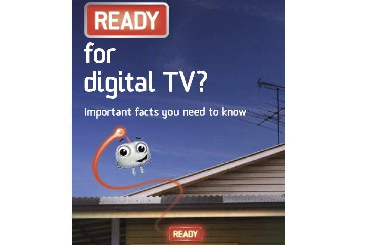 Part of the Digital Switchover Taskforce's national brochure explaining the digital switchover process.