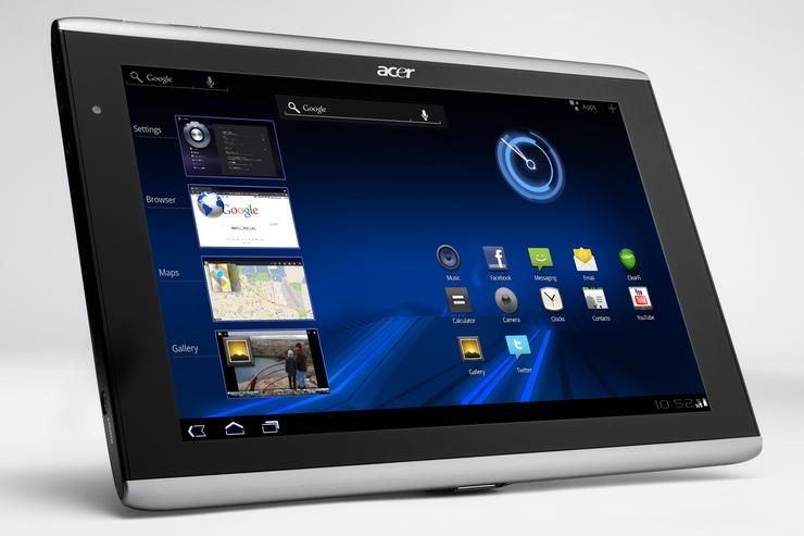 The Acer Iconia A501 Android tablet