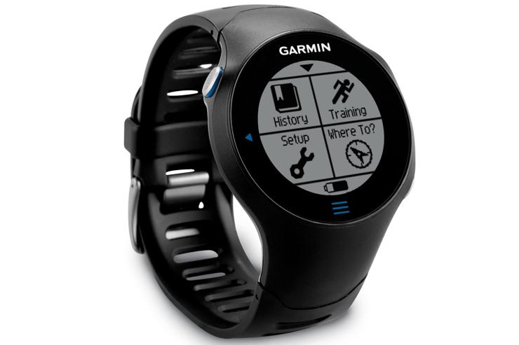 The Garmin Forerunner 610 GPS watch