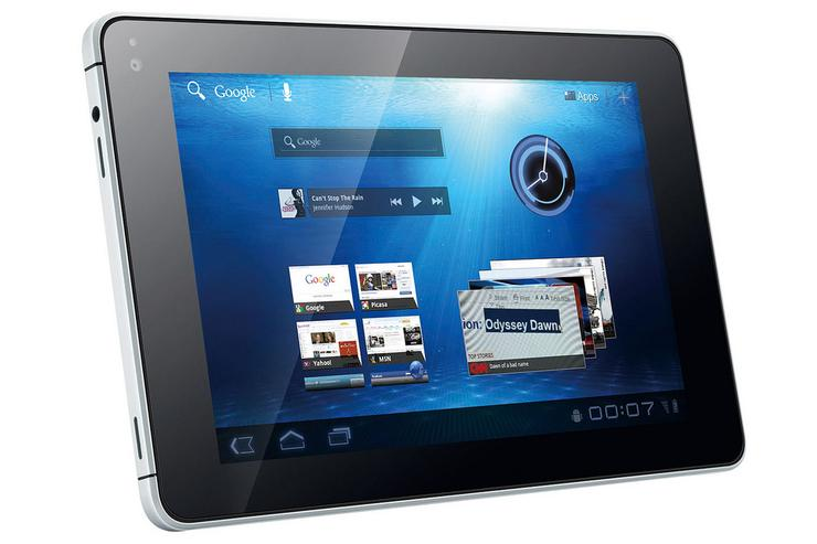 The Huawei MediaPad Android tablet