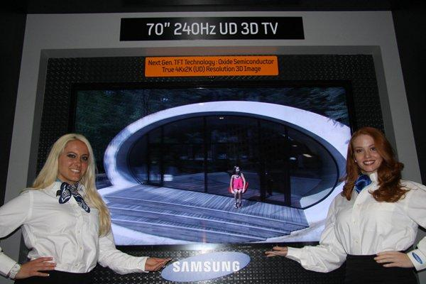 The Samsung 4K 3D TV.