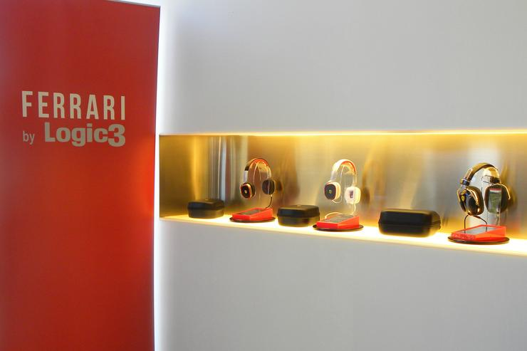 Some of the headphones in the Ferrari by Logic3 range unveiled in Sydney today