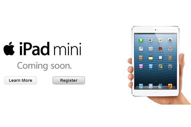 The iPad mini pre-registration page on Telstra's Web site.