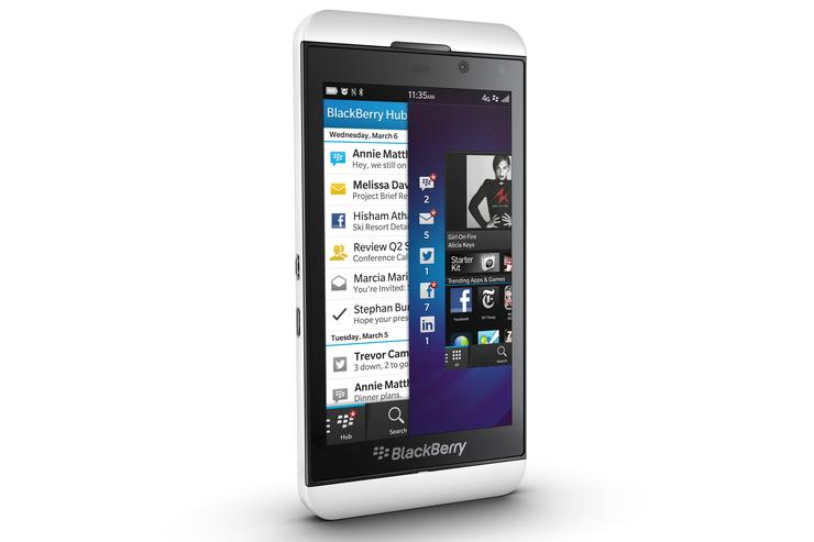 The BlackBerry Z10: coming soon to Optus.
