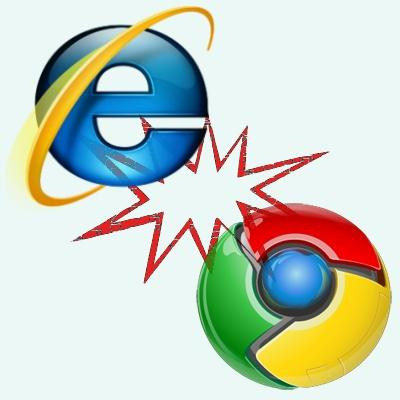 Google's Chrome challenges Microsoft's Internet Explorer