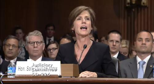 Sally Quillian Yates, deputy attorney general in the U.S. Department of Justice, tells senators the agency needs more access to encrypted communications during a Senate Judiciary Committee hearing Wednesday, July 8, 2015.