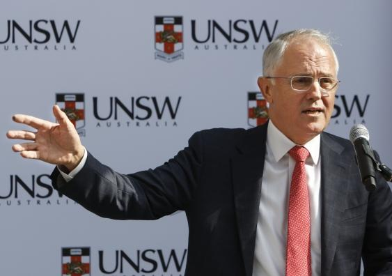 Prime minister Malcolm Turnbull at the UNSW launch