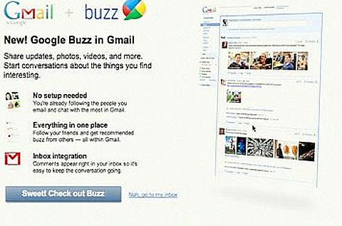 Google Buzz: A visual tour