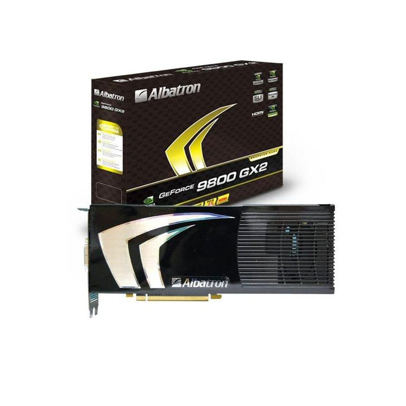 High-end graphics: Albatron 9800GX2-1GX