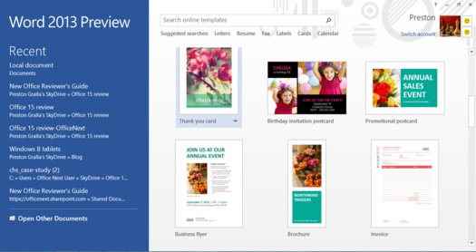 In Pictures: Microsoft Office 2013 beta