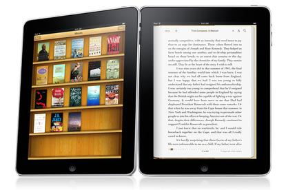 The iBooks functionality on Apple's new iPad