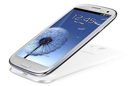 The Samsung Galaxy S III Android phone.