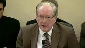 Senator Jay Rockefeller, a West Virginia Democrat, calls for the Senate to pass privacy and data security legislation during a Wednesday hearing.