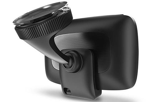 The GO 500's window mount is compact but sturdy, and makes it easy to remove the device.