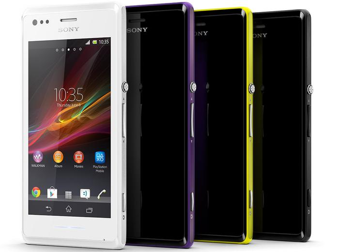 The Xperia M will be available in black, white, purple and yellow colour variants.