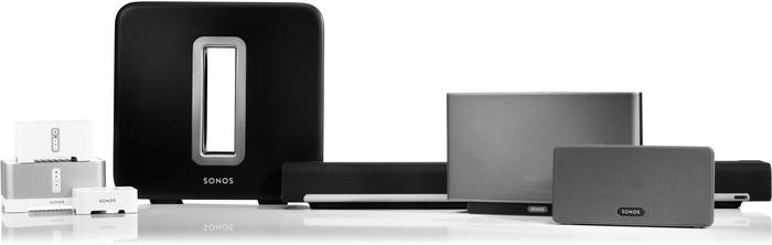 The entire Sonos family of speakers and devices.
