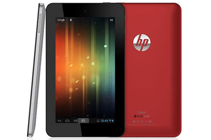 The HP Slate 7 Android tablet.