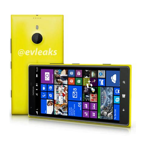 A leaked image of the Nokia Lumia 1520